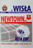 Wisla Cracow - Newtown AFC UEFA Cup match (29.07.1998) programme