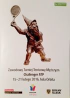 Wroclaw Open ATP Challenge men's tennis tournament official programme (15-21.02.2016)