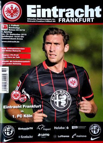 eintracht frankfurt 1 fc koeln official bundesliga match programme football. Black Bedroom Furniture Sets. Home Design Ideas