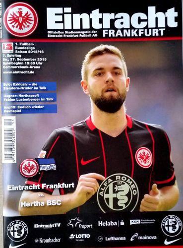 eintracht frankfurt hertha bsc official bundesliga match programme football. Black Bedroom Furniture Sets. Home Design Ideas