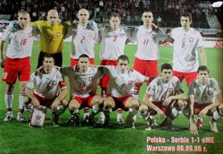 Photo of the Poland national football team before UEFA Euro 2008 qualifying match vs Serbia (Warsaw, 06.09.2006)