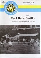 Program 1.FC Lokomotive Lipsk - Real Betis Sewilla PZP (19.10.1979)