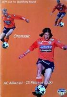 Program AC Allianssi - CS Petange Puchar UEFA (14.07.2005)