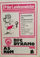 Program BFC Dynamo Berlin - AS Roma Puchar Mistrzów (21.03.1984)