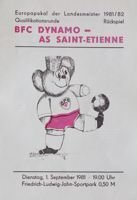 Program BFC Dynamo Berlin - AS Saint-Etienne Puchar Mistrzów (01.09.1981)