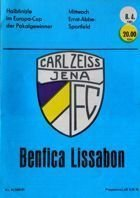Program FC Carl Zeiss Jena - Benfica Lizbona PZP (08.04.1981)