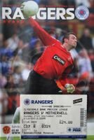Program Glasgow Rangers - Motherwell FC Premier League (21.09.2008) + bilet