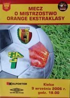 Program Korona Kielce - Górnik Łęczna Orange Ekstraklasa (09.09.2006)