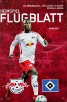 Program RB Lipsk - Hamburger SV Bundesliga (27.01.2018)