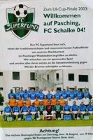 Program SV Pasching - Schalke 04 Gelsenkirchen Puchar Intertoto (12.08.2003)