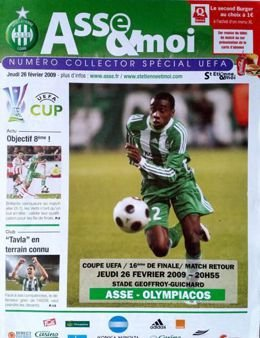 Program AS Saint-Etienne - Olympiakos Pireus Puchar UEFA (26.02.2009)