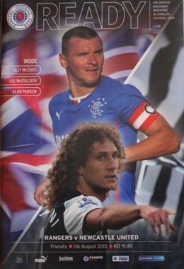 Program Glasgow Rangers - Newcastle United mecz towarzyski (06.08.2013)