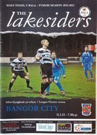 Program Bala Town - Bangor City Premier League (11.01.2013)