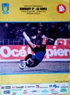 Program Broendby IF - AS Roma Puchar UEFA (10.04.1991)