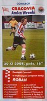 Program Cracovia - Amica Wronki Idea Ekstraklasa (20.11.2004)