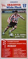 Program Cracovia - Wisła Płock Idea Ekstraklasa (06.11.2004)