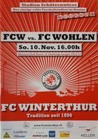 Program FC Winterthur - FC Wohlen Challenge League Szwajcaria (10.11.2013)