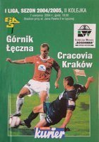Program Górnik Łęczna - Cracovia I liga (07.08.2004)