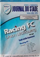 Program Informator Racing FC Union Luksemburg 2012/2013