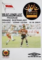 Program ŁKS Łódź - Górnik Łęczna Orange Ekstraklasa (05.08.2006)