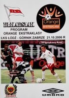 Program ŁKS Łódź - Górnik Zabrze Orange Ekstraklasa (21.10.2006)