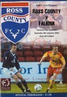 Program Ross County - Falkirk FC Bell's First Division (04.01.2003)
