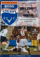 Program Ross County - Morton FC Scottish Cup (25.01.2003)