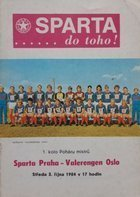 Program Sparta Praga – Valerengens IF Puchar Mistrzów (03.10.1984)