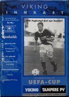 Program Viking Stavanger – Tampereen Pallo-Veikot Puchar UEFA (22.08.1995)