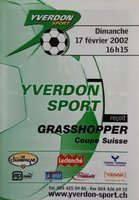 Program Yverdon-Sport - AC Bellinzone Nationale B (03.05.2003)