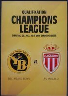 Young Boys Bern - AS Monaco Champions League official programm (28.07.2015)