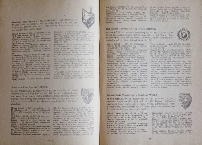 Liga Polska Liga Angielska 1983 84 Ksiazki Sportowe Pilka Nozna Antykwariat Sportowy Ksiazki Pamiatki Sportowe Gadzety Klubowe