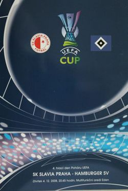 Program SK Slavia Praga - Hamburger SV (04.12.2008) - Puchar UEFA