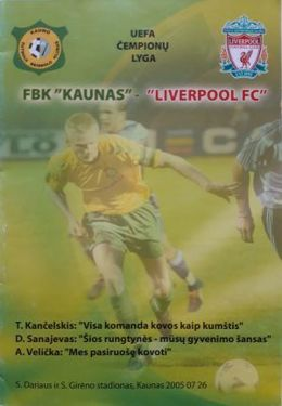 Program FBK Kaunas - Liverpool FC Champions League (26.07.2005)