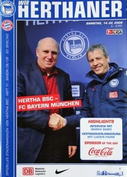 Program Hertha BSC Berlin - Bayern Monachium Bundesliga (14.02.2009)
