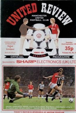 Program Manchester United - Liverpool FC Division One (22.09.1984)
