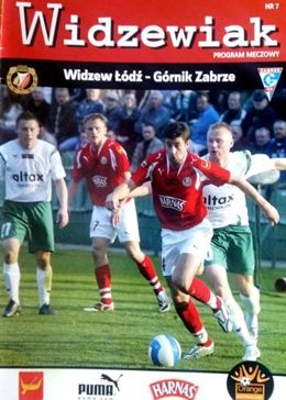 Program Widzew Łódź - Górnik Zabrze Orange Ekstraklasa (10.05.2008)
