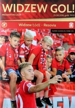 Program Widzew Łódź - Resovia II liga (25.08.2018)
