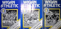 Programy Wigan Athletic Division Four 1979-1981 (4 numery)